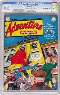 Adventure Comics #141 Mile High pedigree (DC, 1949) CGC VF/NM 9.0 Off-white to white pages