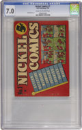 Golden Age (1938-1955):Miscellaneous, Nickel Comics #1 (Dell, 1938) CGC FN/VF 7.0 Cream to off-white pages....