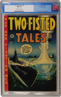 Two-Fisted Tales #32 Gaines File pedigree 3/9 (EC, 1953) CGC NM 9.4 Off-white to white pages