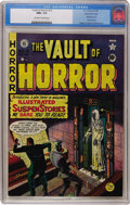 Golden Age (1938-1955):Horror, Vault of Horror #13 Gaines File pedigree (EC, 1950) CGC NM+ 9.6Off-white to white pages....