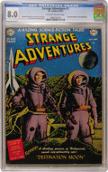 Golden Age (1938-1955):Science Fiction, Strange Adventures #1 (DC, 1950) CGC VF 8.0 Off-white to whitepages....