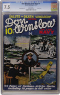 Platinum Age (1897-1937):Miscellaneous, Don Winslow of the Navy #1 (Merwil Publishing, 1937) CGC VF- 7.5White pages....