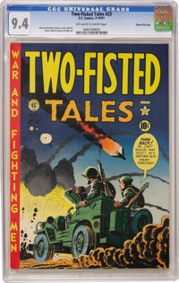 Two-Fisted Tales #23 Gaines File pedigree 10/10 (EC, 1951) CGC NM 9.4 Off-white to white pages