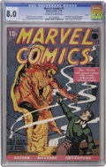 Golden Age (1938-1955):Superhero, Marvel Comics #1 Larson pedigree (Timely, 1939) CGC VF 8.0Off-white to white pages....