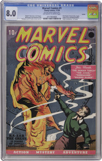Marvel Comics #1 Larson pedigree (Timely, 1939) CGC VF 8.0 Off-white to white pages