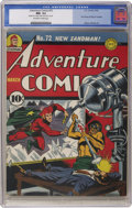 Golden Age (1938-1955):Superhero, Adventure Comics #72 (DC, 1942) CGC NM- 9.2 Off-white to white pages....