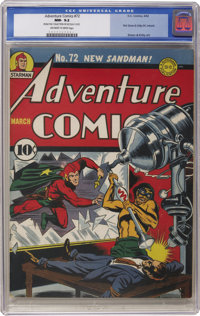 Adventure Comics #72 (DC, 1942) CGC NM- 9.2 Off-white to white pages