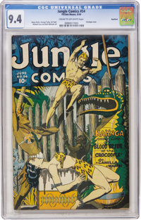 Jungle Comics #54 Rockford pedigree (Fiction House, 1944) CGC NM 9.4 Cream to off-white pages