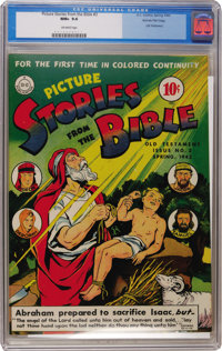 Picture Stories from the Bible #3 Old Testament Gaines File pedigree (DC, 1943) CGC NM+ 9.6 Off-white pages