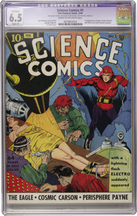 Science Comics #1 (Fox, 1940) CGC Apparent FN+ 6.5 Slight (P) Cream to off-white pages