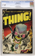 Golden Age (1938-1955):Horror, The Thing! #14 (Charlton, 1954) CGC FN/VF 7.0 Off-white to white pages....