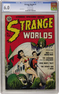 Golden Age (1938-1955):Science Fiction, Strange Worlds #1 (Avon, 1950) CGC FN 6.0 Off-white pages....