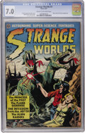 Golden Age (1938-1955):Science Fiction, Strange Worlds #3 (Avon, 1951) CGC FN/VF 7.0 Cream to off-whitepages....