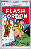 Golden Age (1938-1955):Science Fiction, Four Color #10 Flash Gordon (Dell, 1942) CGC VF/NM 9.0 Cream tooff-white pages....