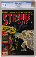 Golden Age (1938-1955):Horror, Strange Tales #7 (Marvel, 1952) CGC VF- 7.5 Cream to off-whitepages....