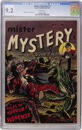 Golden Age (1938-1955):Horror, Mister Mystery #1 (Mikeross Pub., 1951) CGC NM- 9.2 White pages....
