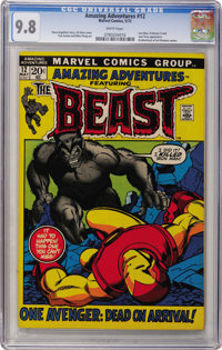 Amazing Adventures #12 The Beast (Marvel, 1972) CGC NM/MT 9.8 White pages