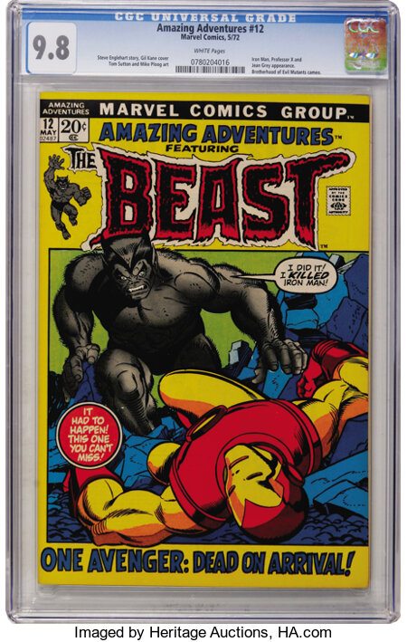 Amazing Adventures #12 The Beast (Marvel, 1972) CGC NM/MT 9.8 White pages....