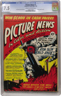 Golden Age (1938-1955):Non-Fiction, Picture News #1 (Lafayette Street Corp., 1946) CGC VF- 7.5 Cream tooff-white pages....