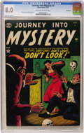 Golden Age (1938-1955):Horror, Journey Into Mystery #2 Bethlehem pedigree (Marvel, 1952) CGC VF8.0 Off-white to white pages....
