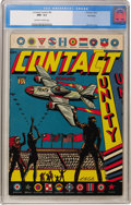Golden Age (1938-1955):Miscellaneous, Contact Comics #8 Big Apple pedigree (Aviation Press, 1945) CGC NM- 9.2 Off-white to white pages....
