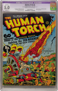 The Human Torch #5 (Timely, 1941) CGC Apparent VG/FN 5.0 Slight (A) Cream to off-white pages