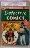 Golden Age (1938-1955):Superhero, Detective Comics #38 (DC, 1940) CGC Apparent FN- 5.5 Slight (A) Cream to off-white pages....