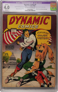 Dynamic Comics #1 (Chesler, 1941) CGC Apparent VG 4.0 Slight (A) Off-white to white pages
