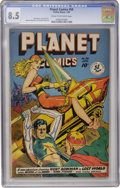 Golden Age (1938-1955):Science Fiction, Planet Comics #58 (Fiction House, 1949) CGC VF+ 8.5 Cream to off-white pages....
