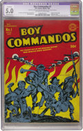 Golden Age (1938-1955):War, Boy Commandos #1 (DC, 1942) CGC Apparent VG/FN 5.0 Moderate (A)Off-white to white pages....