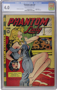 Phantom Lady #16 (Fox Features Syndicate, 1948) CGC VG 4.0 Cream to off-white pages