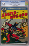 Golden Age (1938-1955):Superhero, Shield-Wizard Comics #12 (MLJ, 1943) CGC FN/VF 7.0 Off-white to white pages....