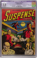 Golden Age (1938-1955):Horror, Suspense Comics #1 (Continental Magazines, 1943) CGC GD/VG 3.0Extensive (P) Off-white pages....