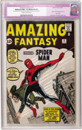 Silver Age (1956-1969):Superhero, Amazing Fantasy #15 (Marvel, 1962) CGC Apparent NM- 9.2 Moderate (P) Cream to off-white pages....