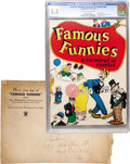 Platinum Age (1897-1937):Miscellaneous, Famous Funnies: A Carnival of Comics #nn with Original MailingEnvelope (Eastern Color, 1933) CGC FN- 5.5 Off-white to white p...(Total: 2 Items)