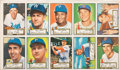 Baseball Cards:Lots, 1952 Topps Baseball Uncut Panel of Ten Cards (10). ...