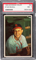 Baseball Cards:Singles (1950-1959), 1953 Bowman Color Stan Musial #32 PSA NM 7....