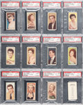 Non-Sport Cards:Singles (Pre-1950), 1955 Barbers Tea Cinema & TV Stars High Grade PSA Graded Set(25) Plus Three Extras. ...