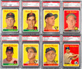 Baseball Cards:Lots, 1958 Topps Baseball Yellow Letter Variations PSA Graded Collection(25)....