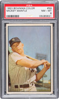 Baseball Cards:Singles (1950-1959), 1953 Bowman Color Mickey Mantle #59 PSA NM-MT 8....