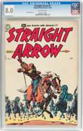 Golden Age (1938-1955):Western, Straight Arrow #1 (Magazine Enterprises, 1950) CGC VF 8.0 Off-white pages....