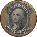 Encased Postage: , HB-77 EP-142 12¢ Burnett's Cocoaine Very Fine to Extremely Fine.....