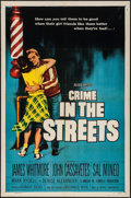 "Movie Posters:Crime, Crime in the Streets (Allied Artists, 1956). One Sheet (27"" X 41"").Crime.. ..."