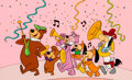 "Animation Art:Limited Edition Cel, ""Yogi Leading the Parade"" Limited Edition Cel (Hanna-Barbera,1988)...."
