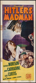 "Movie Posters:War, Hitler's Madman (MGM, 1943). Australian Daybill (13"" X 30""). War....."
