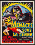"Movie Posters:Science Fiction, The Mole People (Universal International, 1956). Trimmed Belgian(14"" X 18""). Science Fiction.. ..."