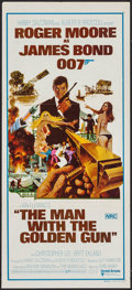 "Movie Posters:James Bond, The Man with the Golden Gun (United Artists, 1974). Australian Daybill (13.5"" X 30""). James Bond.. ..."