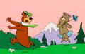 Animation Art:Limited Edition Cel, Cindy Bear Chasing Yogi Bear Limited Edition Cel (Hanna-Barbera,1988)....