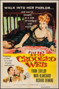 "Movie Posters:Crime, The Crooked Web & Other Lot (Columbia, 1955). One Sheets (2) (27"" X 41""). Crime.. ... (Total: 2 Items)"