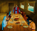 "Animation Art:Production Cel, The Greatest Stories From the Bible ""Noah's Ark"" Production Cel and Master Painted Production Background (Hanna-Ba... (Total: 5 Original Art)"